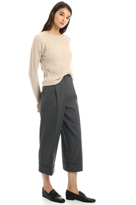 Crop trousers with turn ups Intrend