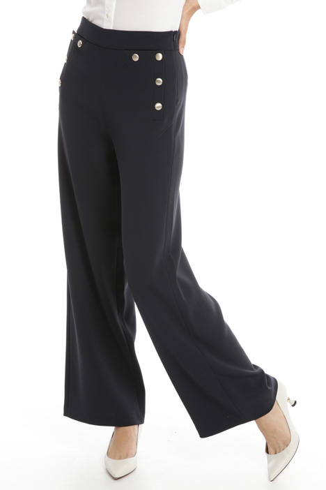 Gold button detail trousers Intrend