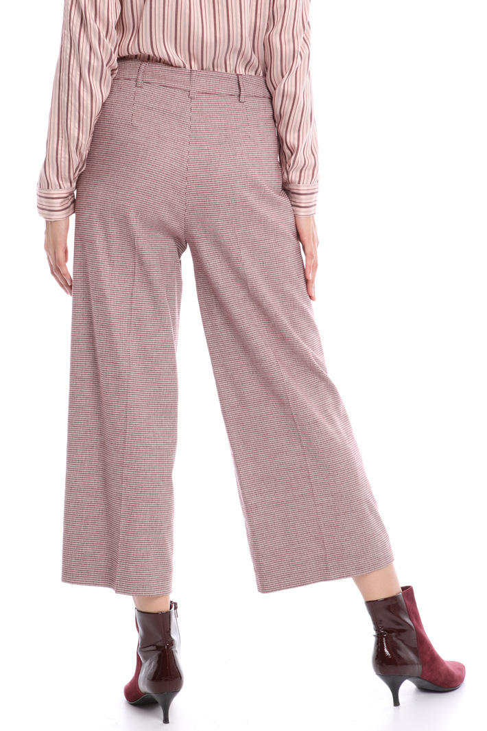 Wide leg houndstooth trousers Intrend