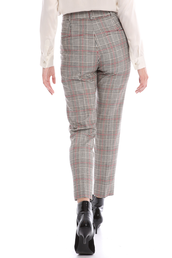 Check slim fit trousers Intrend