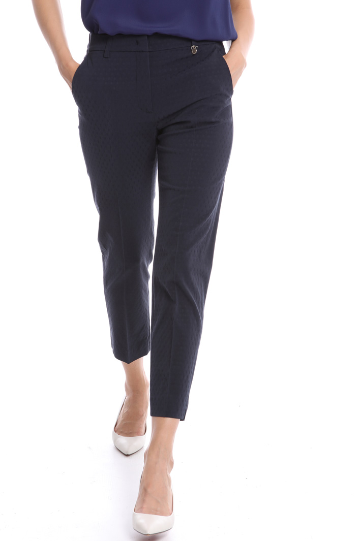 Viscose jacquard trousers Intrend