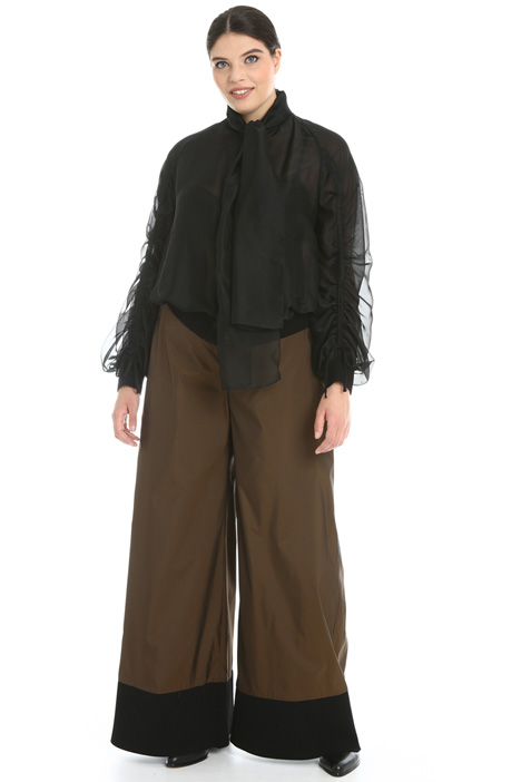 Trousers in fluid taffeta Intrend
