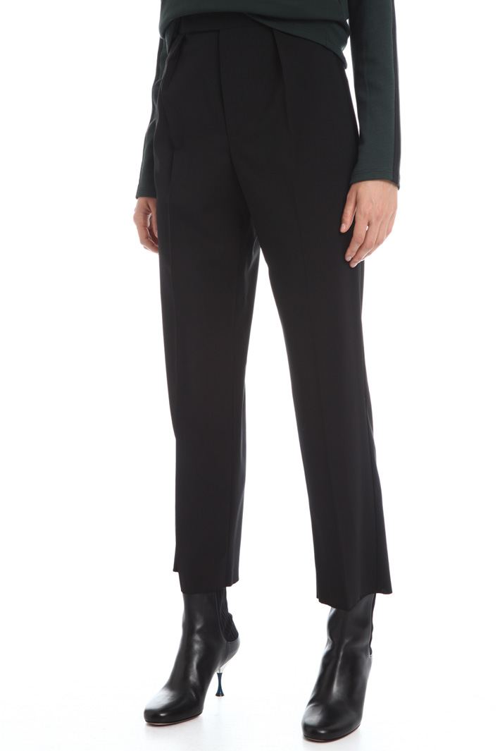Wool canvas trousers  Intrend