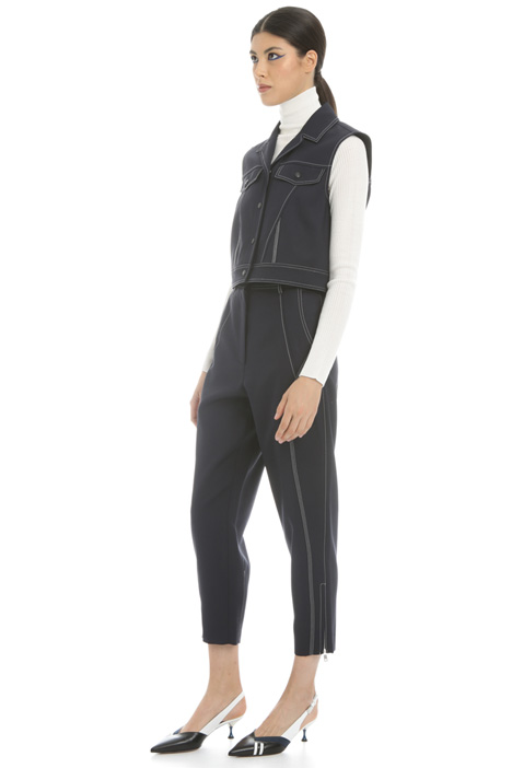 Stretch gabardine vest Intrend