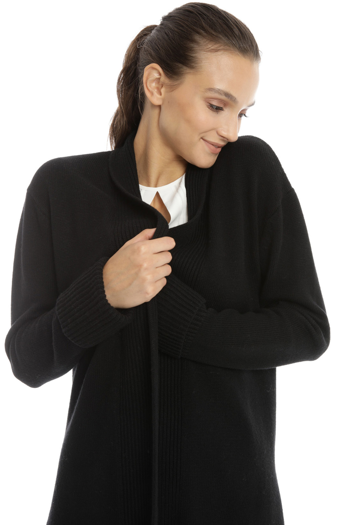 Fringed and ribbed cardigan Intrend