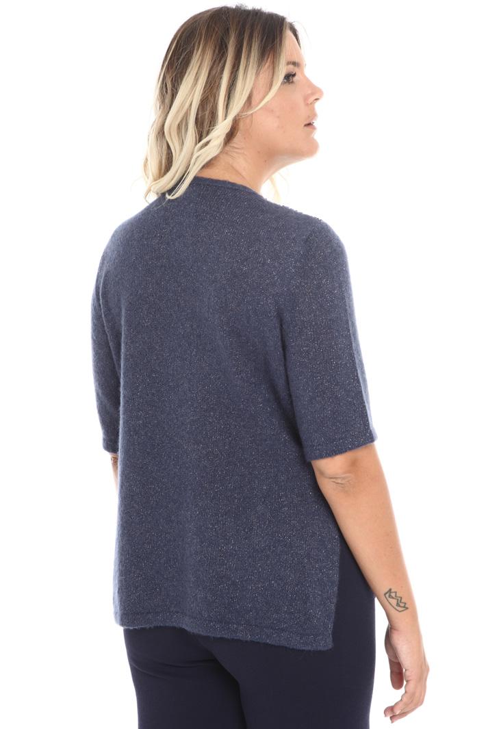 Sequin short-sleeved sweater Intrend