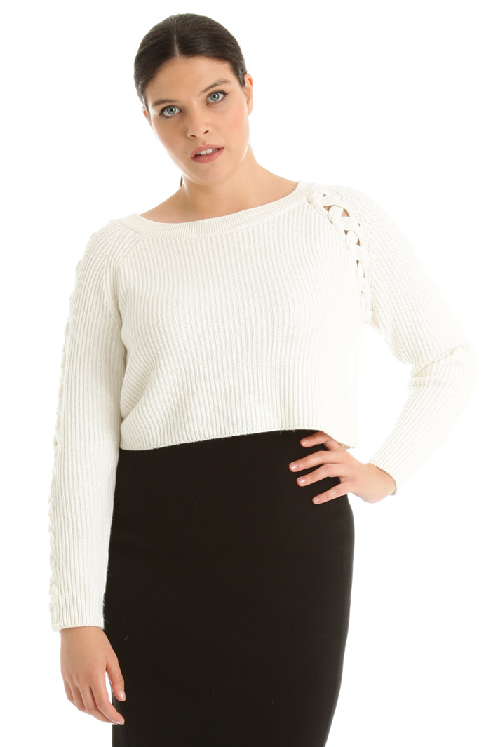 Cropped wool blend sweater Intrend