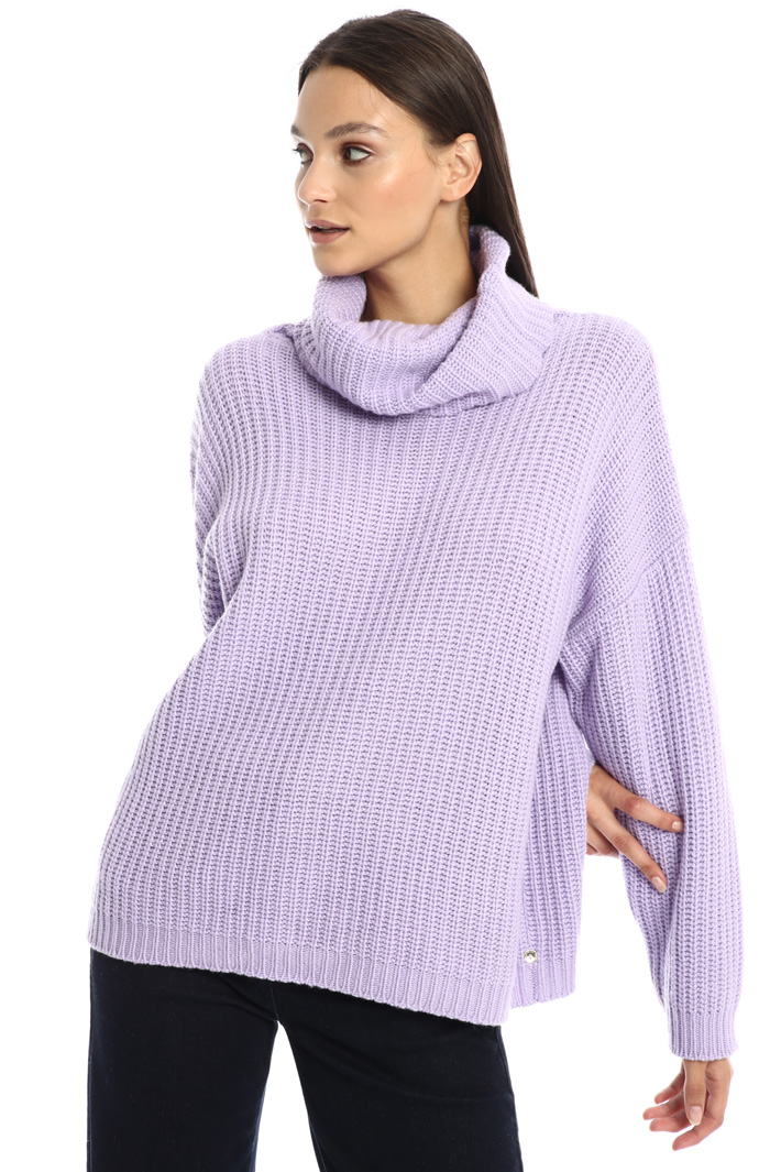 Coocon jumper with maxi-neck Intrend