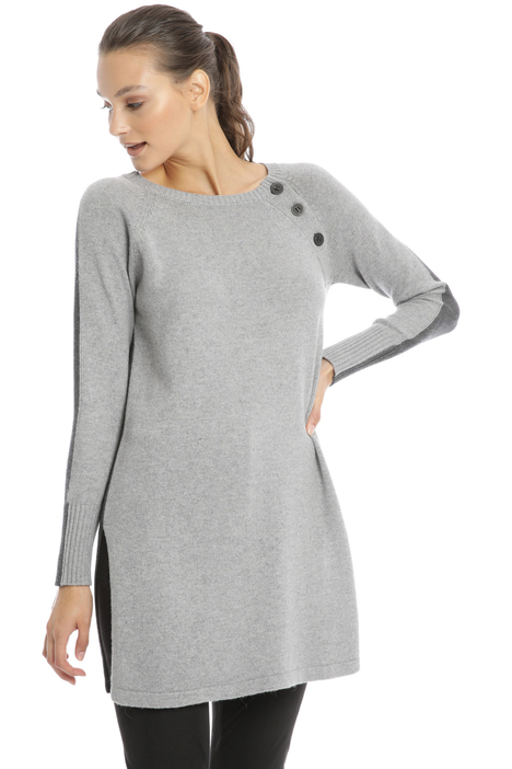 Long sweater with buttons Intrend