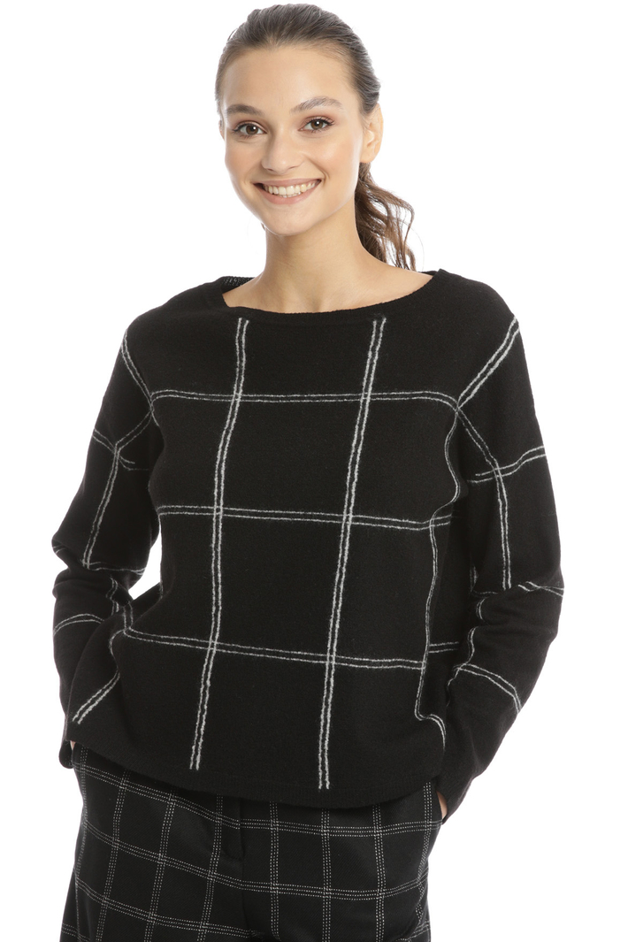 Checked boiled wool sweater Intrend