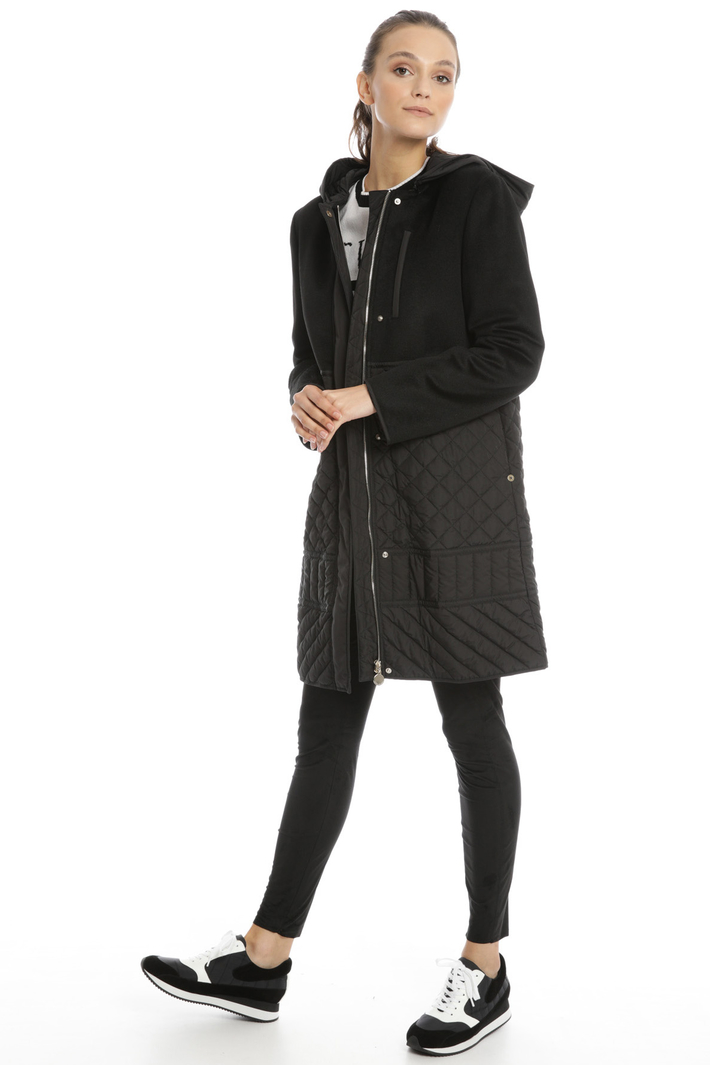Padded coat with wool inserts Intrend