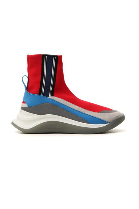 Sneaker in maglia e pelle Intrend
