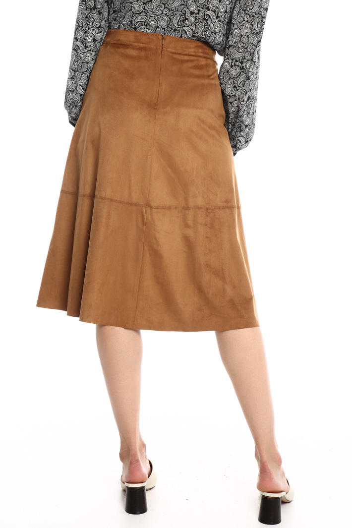 Suede effect A-line skirt Intrend