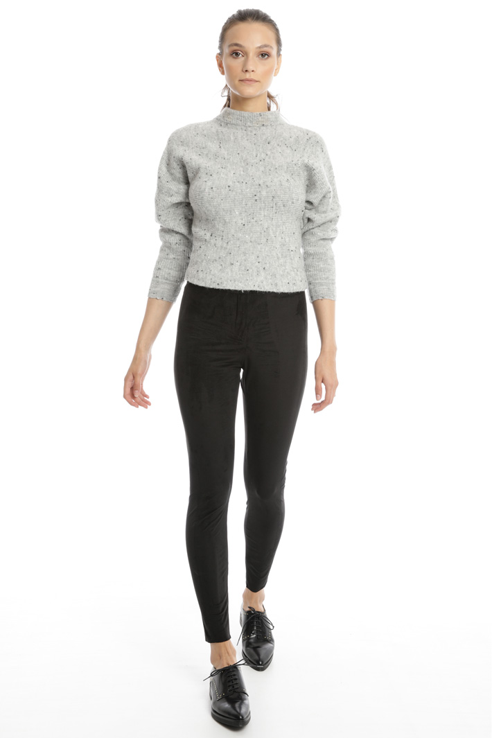 Suede effect skinny trousers Intrend