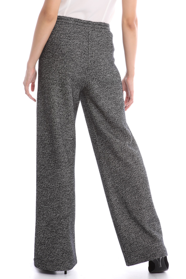 Tweed jersey trousers Intrend