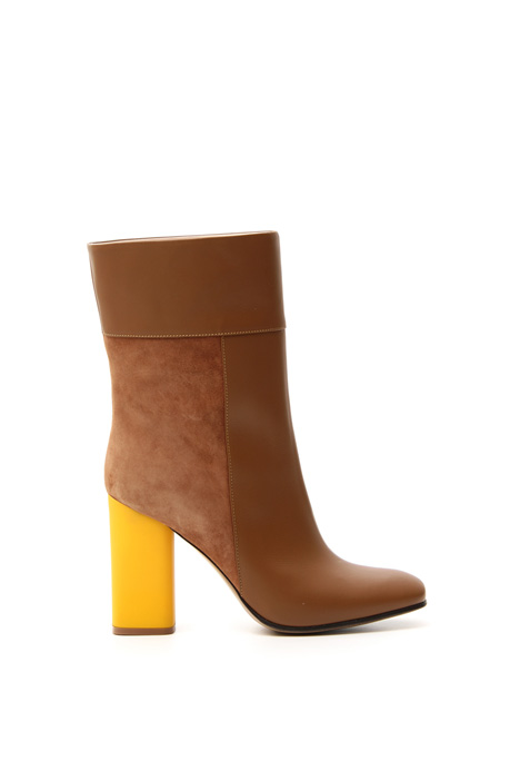 Suede and leather ankle boots Intrend