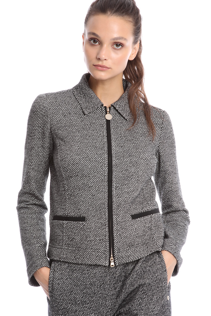Tweed jersey jacket Intrend
