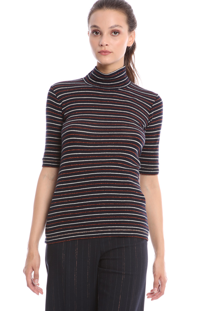 Funnel neck T-shirt Intrend