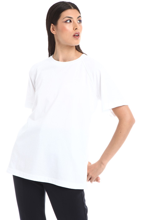 Dual fabric T-shirt Intrend