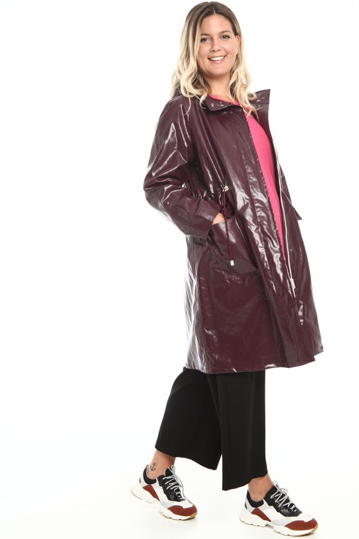 Coated linen raincoat Intrend