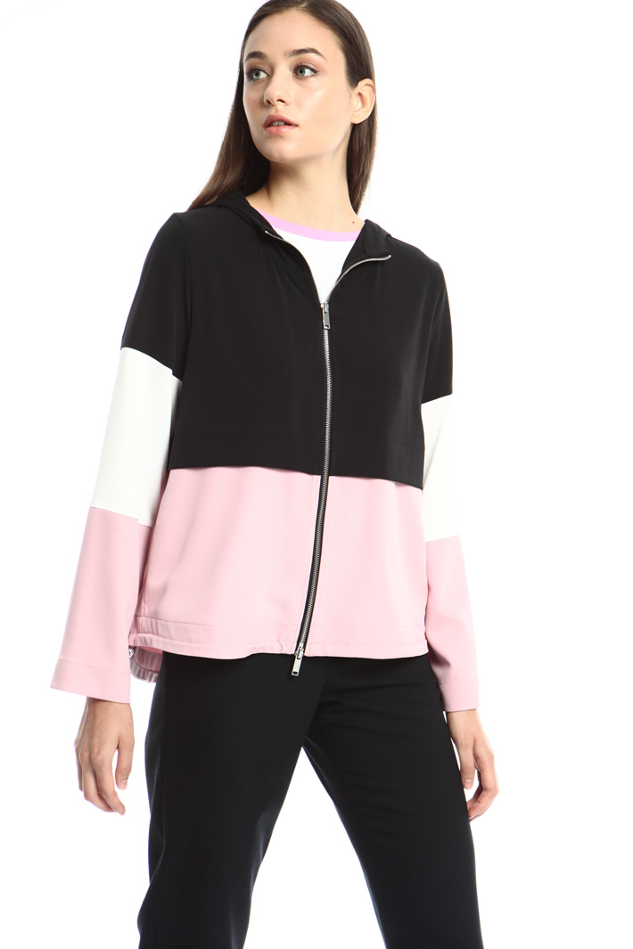 Colorblock hooded sweatshirt Intrend
