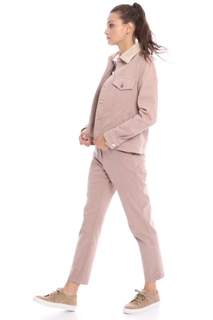 Fur-effect collar jacket Intrend