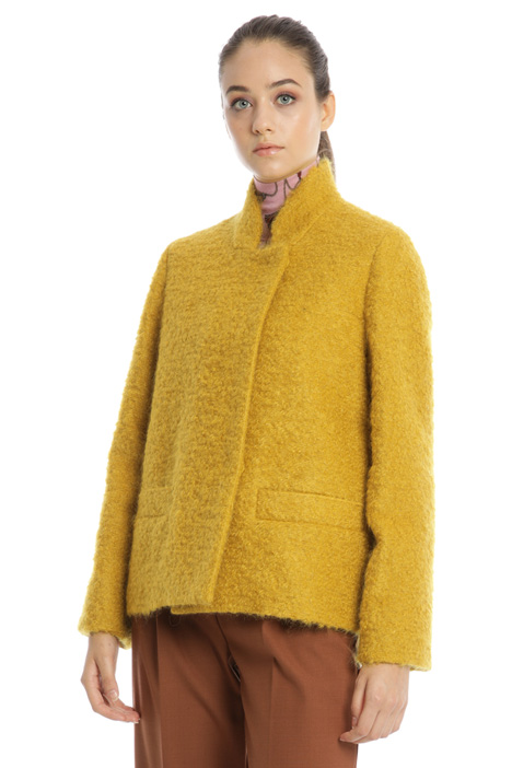 Wool and mohair pea coat Intrend