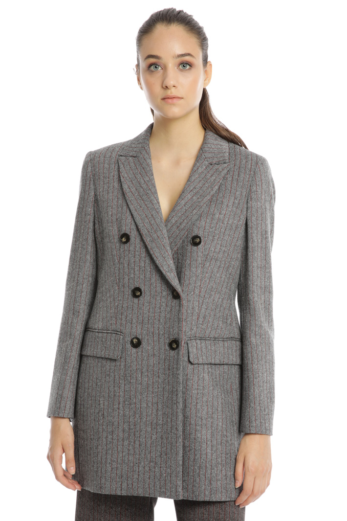 Double-breasted wool blazer Intrend