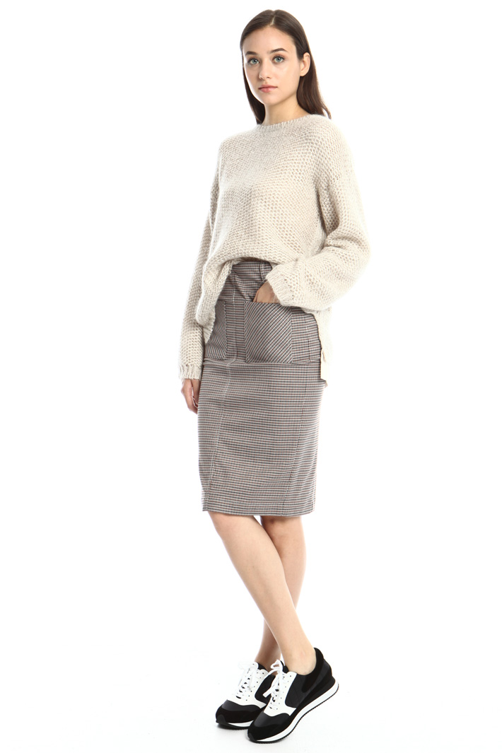 Sheath skirt in flannel Intrend
