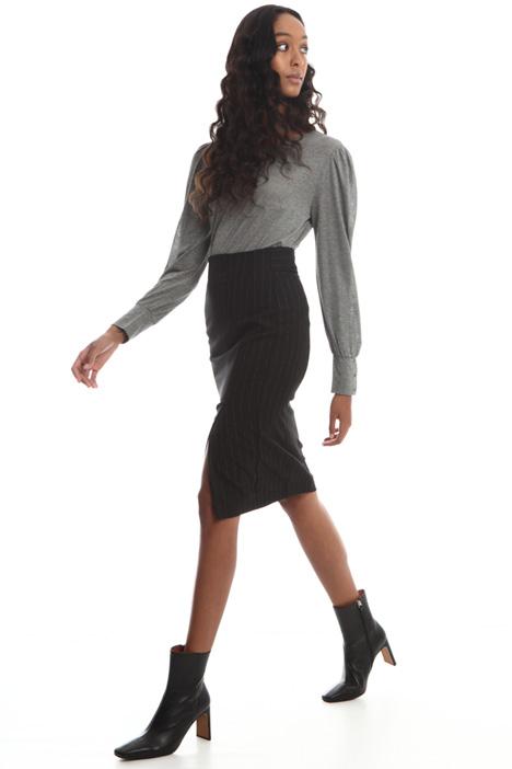 Wool blend tube skirt Intrend