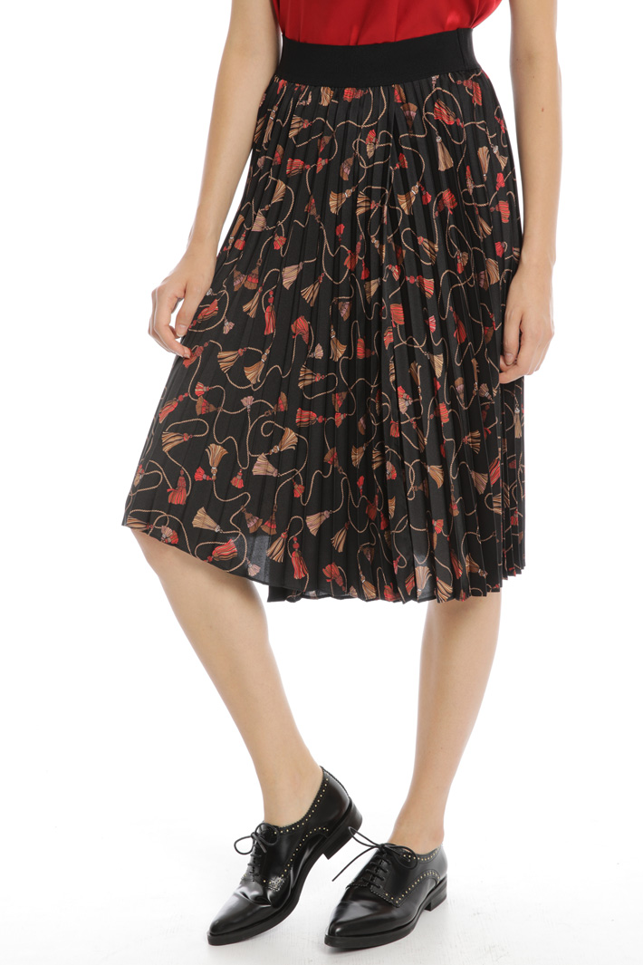 Pleated twill skirt Intrend