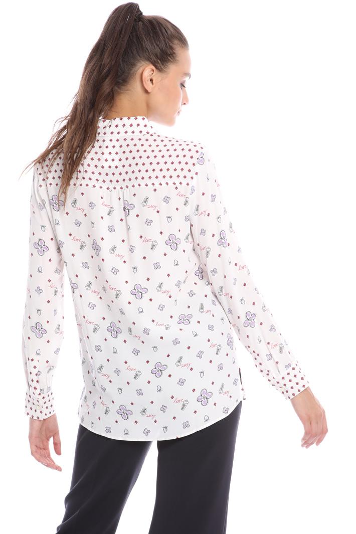 Printed viscose shirt Intrend