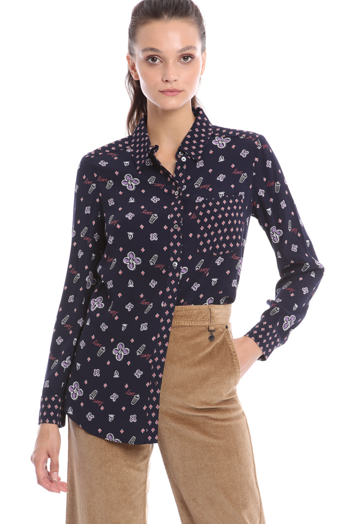 Printed viscose shirt Intrend