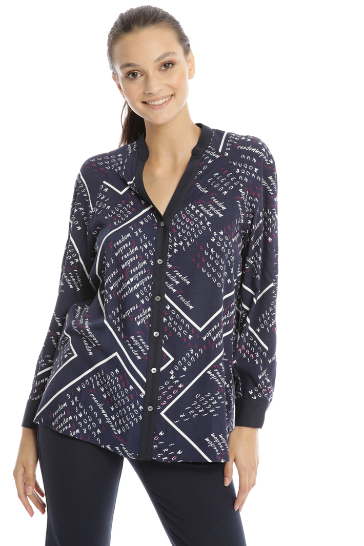Printed twill shirt Intrend