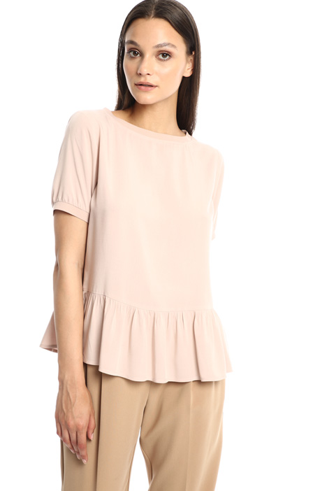 Flounced muslin top Intrend