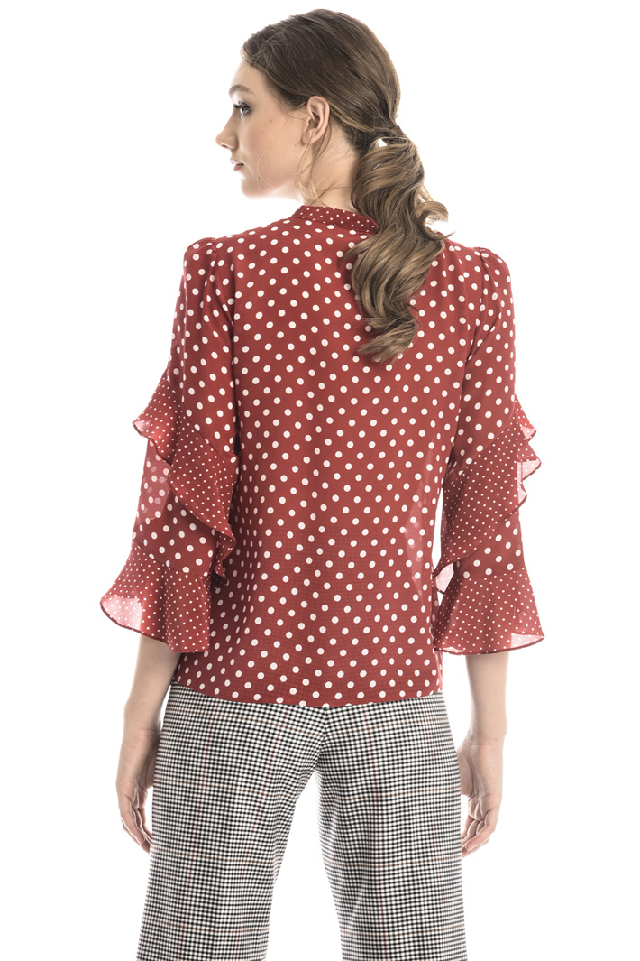 Frilled sleeve blouse Intrend