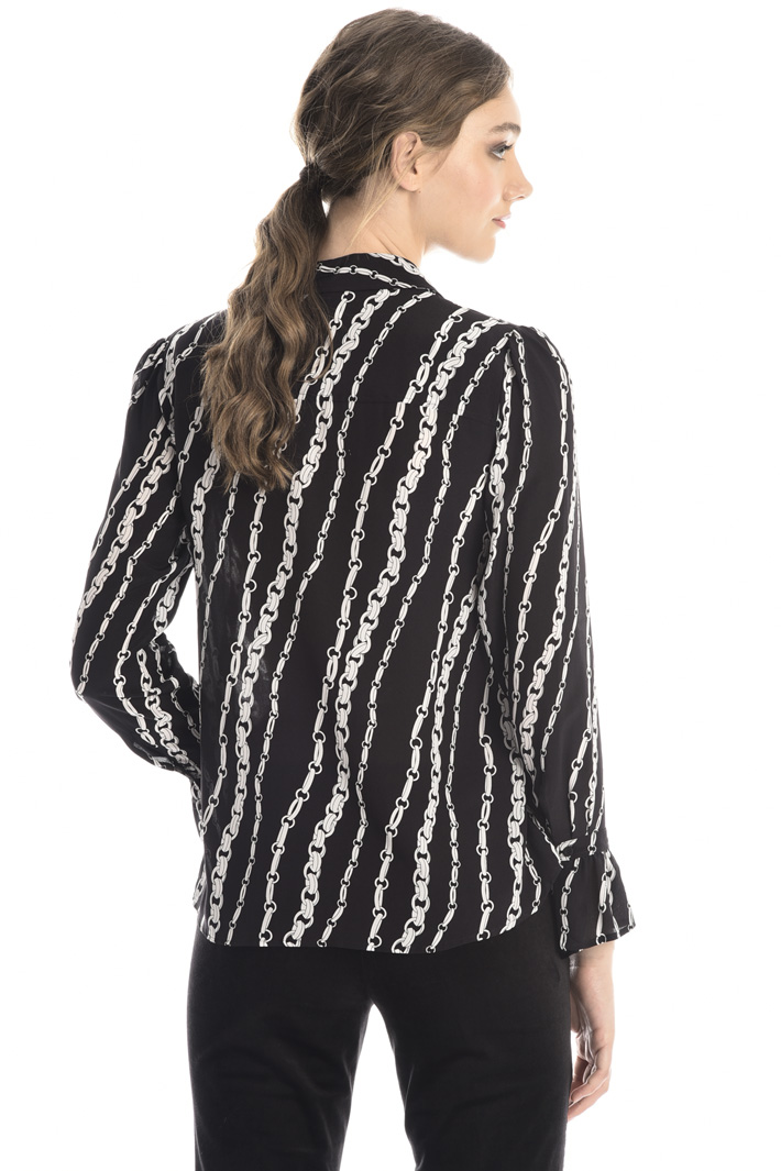Patterned silk shirt Intrend