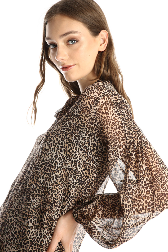 Animal print blouse Intrend
