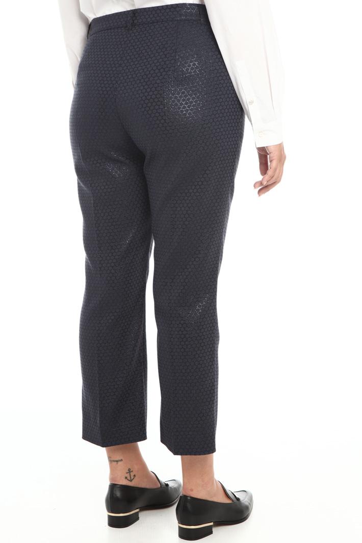 Lamé jacquard trousers Intrend
