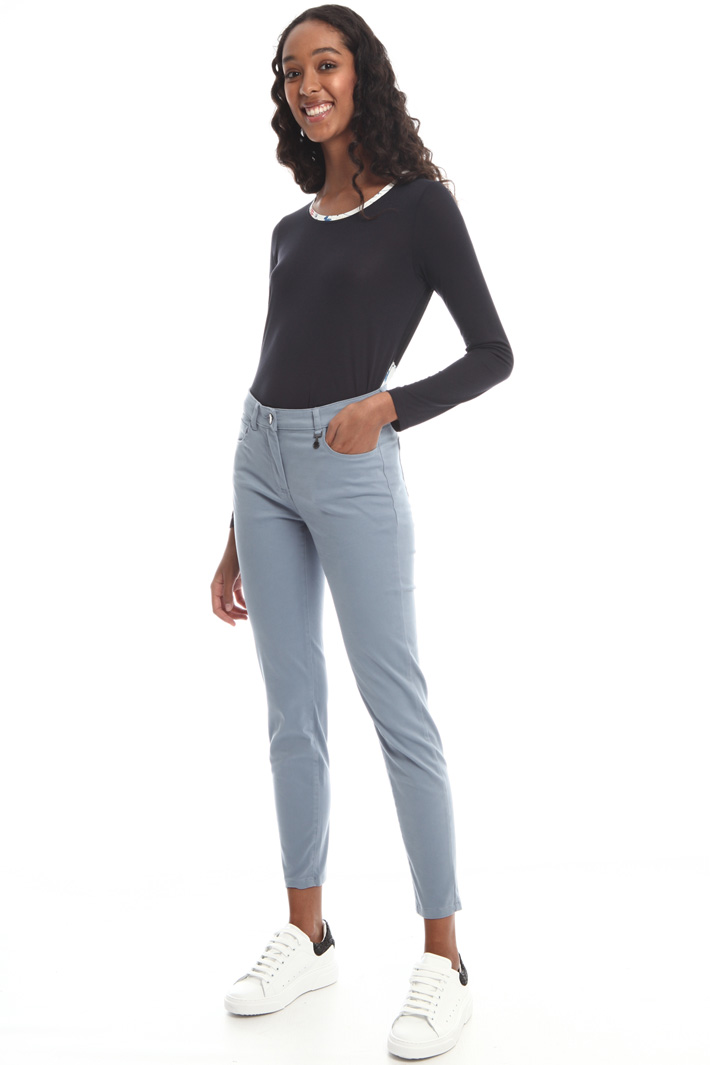 Skinny cotton satin trousers Intrend