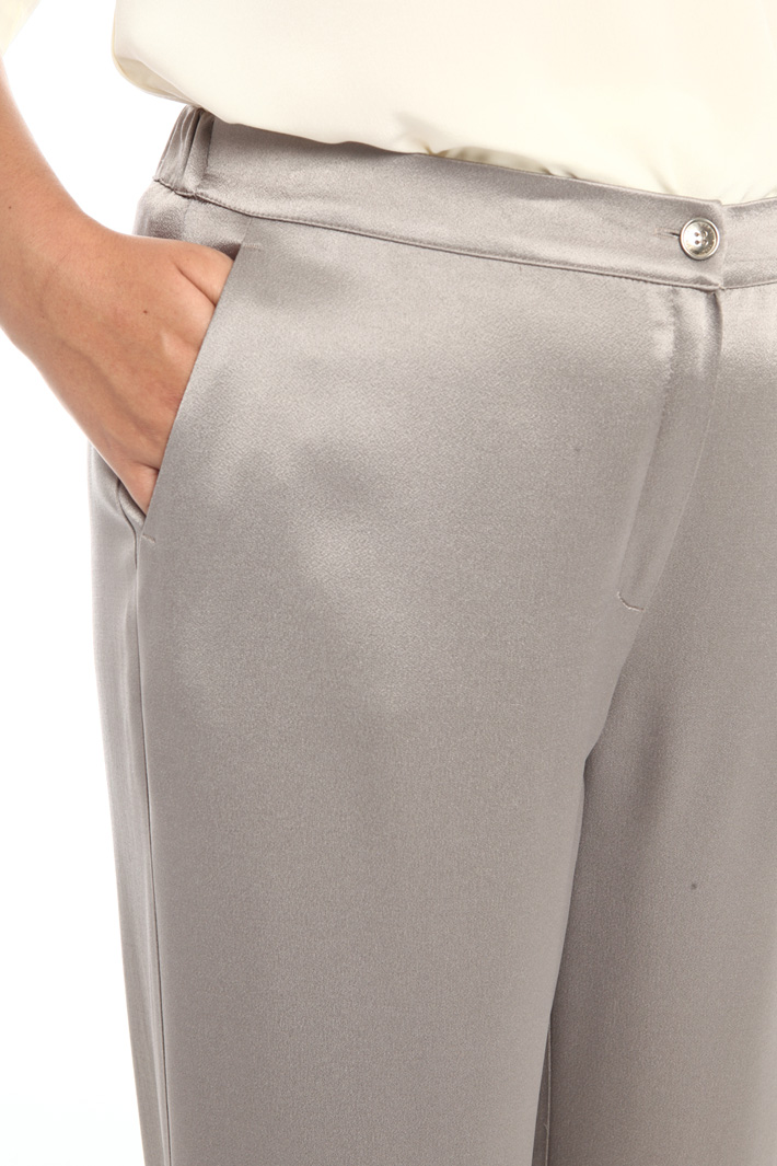 Satin sablé trousers Intrend