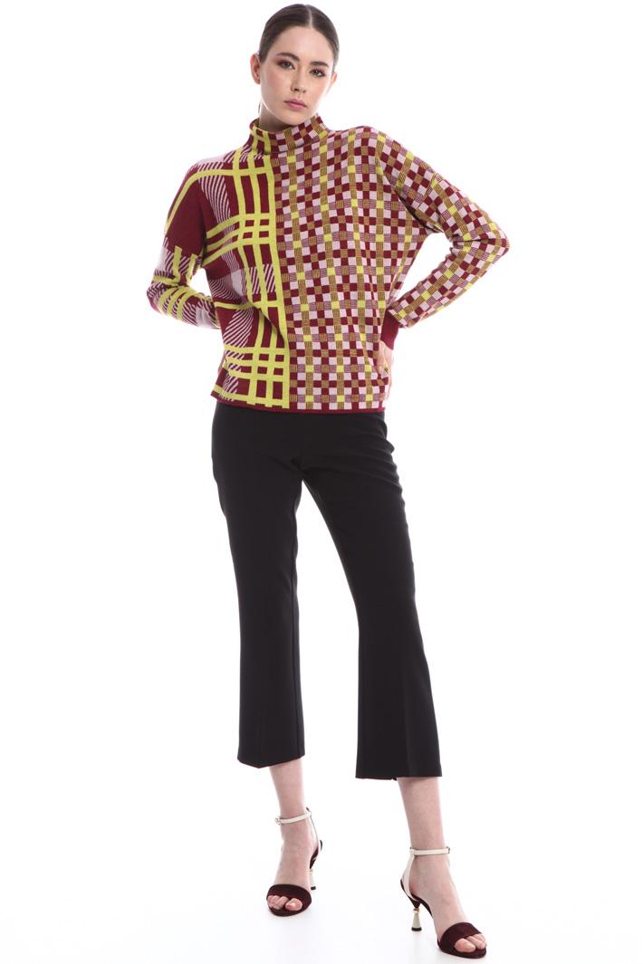 Stretch viscose trousers Intrend