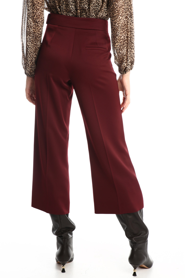 Crop satin trousers Intrend