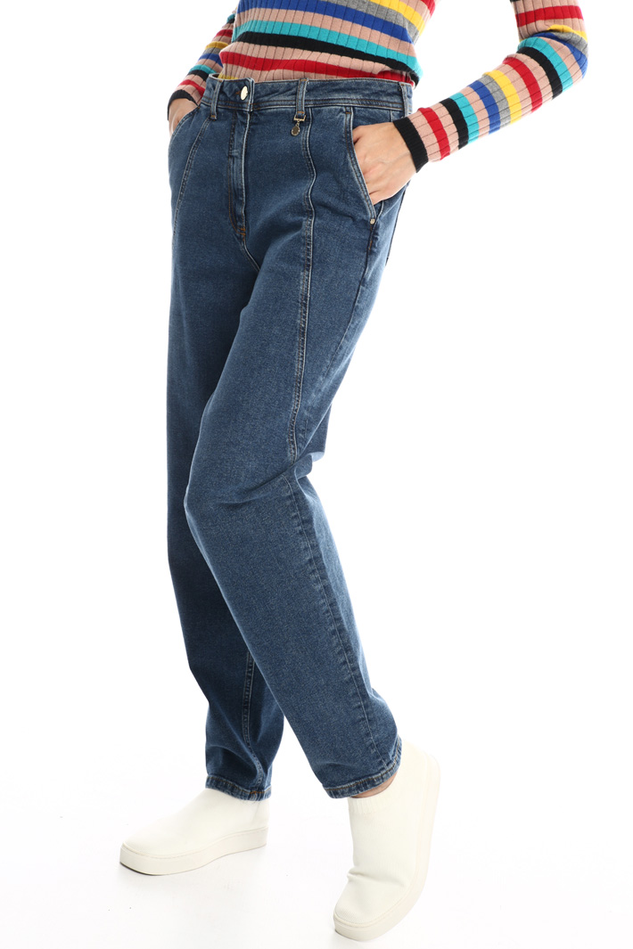 Denim carrot trousers Intrend