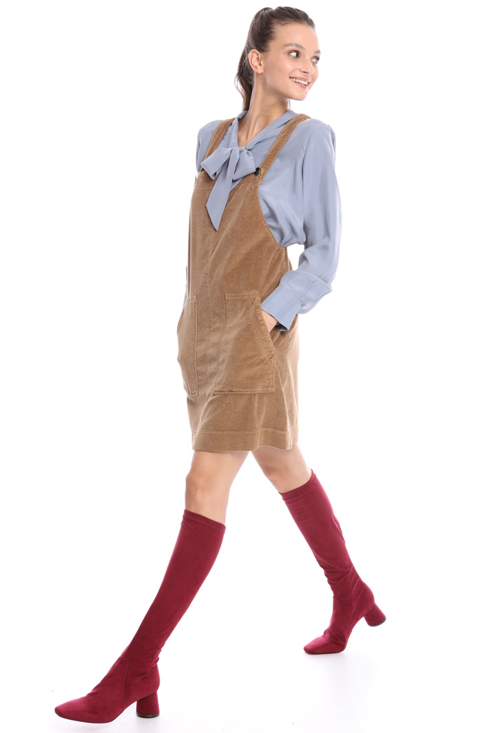 Velvet dungaree dress Intrend