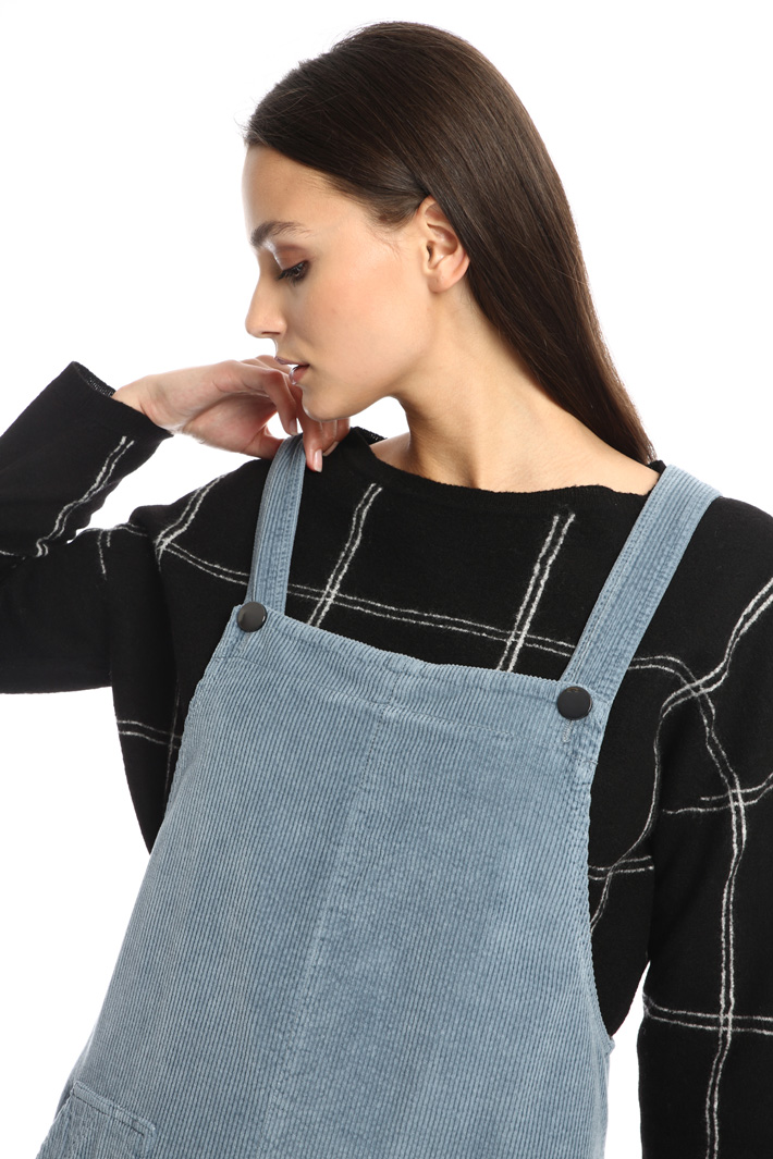 Velvet dungaree dress Intrend