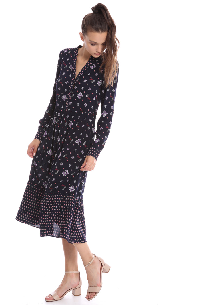 Flounced long-sleeve dress Intrend