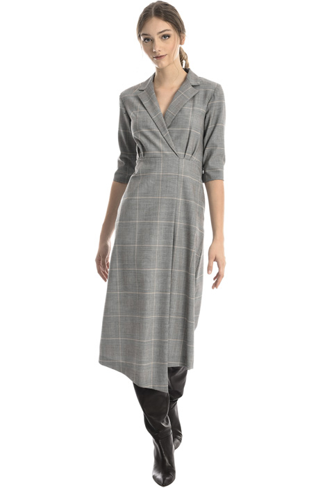 Asymmetric wool dress Intrend