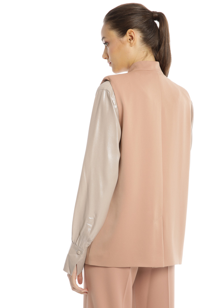 Double-breasted satin vest Intrend