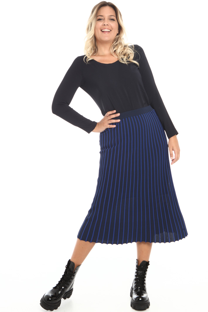 Skirt with raised stripes Intrend